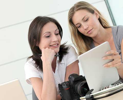 Ook online of via een app kan marketing materiaal beheerd worden